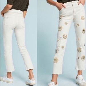 Pilcro And The Letterpress White Jeans Size 27